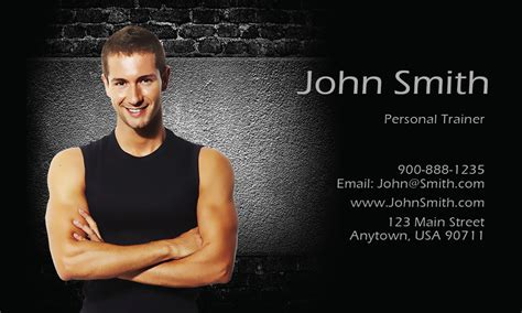 fitness sport business cards templates