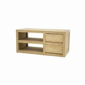 Meuble Tv Bois Massif Moderne : meuble bois massif accueil design et mobilier ~ Teatrodelosmanantiales.com Idées de Décoration