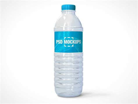 Download this psd from the original source of medialoot. Translucent Plastic Water Bottle & Twist Cap PSD Mockup ...