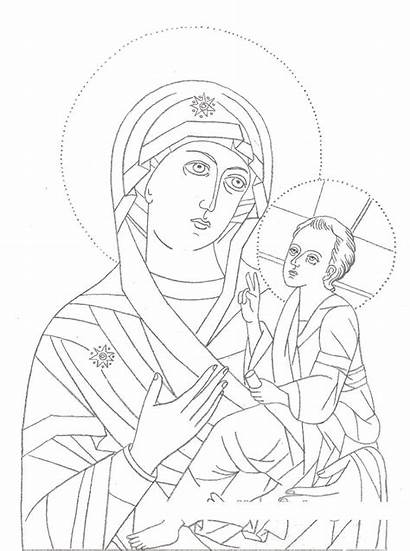 Mary Coloring Icon Icons Pages Virgin