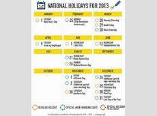 2013 Philippine National Holidays List Released