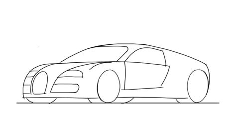 how to draw a sports car bugatti veyron junior car designer