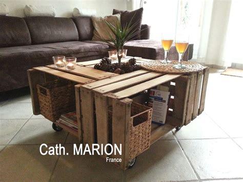 table basse avec 4 caisses bois palettes co tables