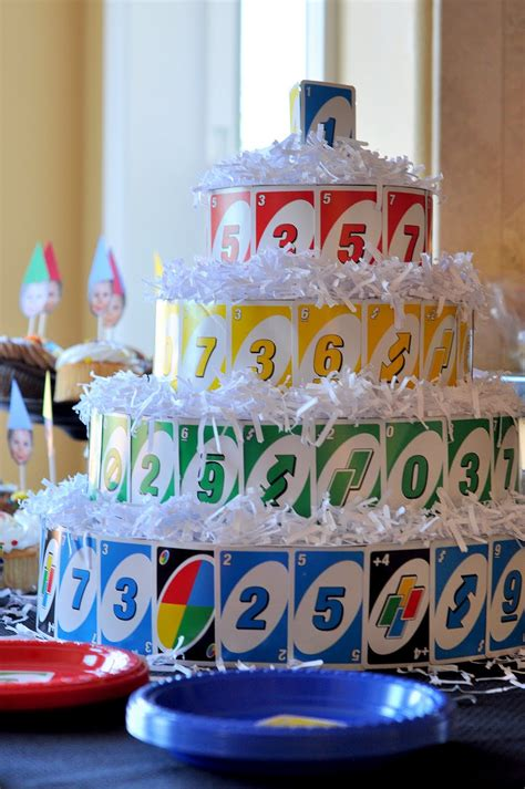 craftily   maxs uno themed  birthday party