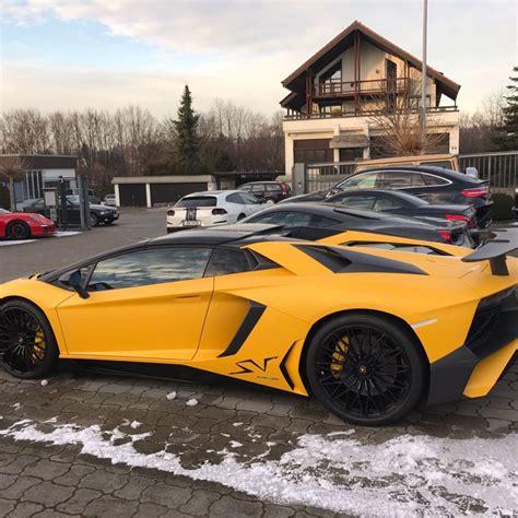 lamborghini aventador sv roadster yellow cars refined marques