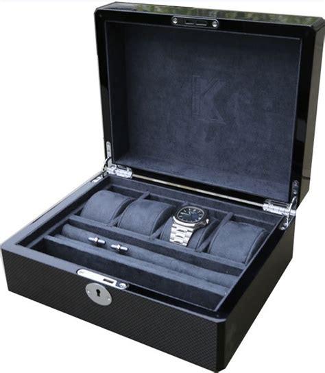 boite pour ranger les montres coffret vitrine noir la maison du bouton de manchette 17 rangement