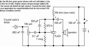 Simple Crystal Radio Audio Amplifier Circuit Diagram
