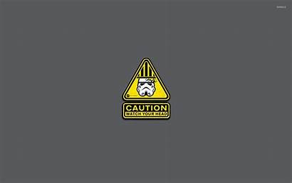 Funny Caution Head Stormtrooper Wallpapers Warning Backgrounds