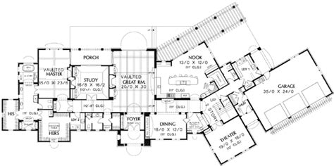 guest house plans five bedroom luxury with guest house 69242am 1st floor