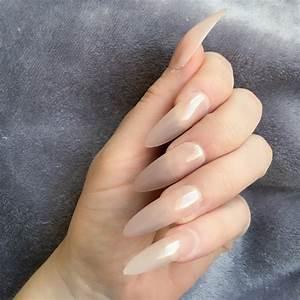 Sheer Mocha Gloss Long Stiletto – Doobys Nails