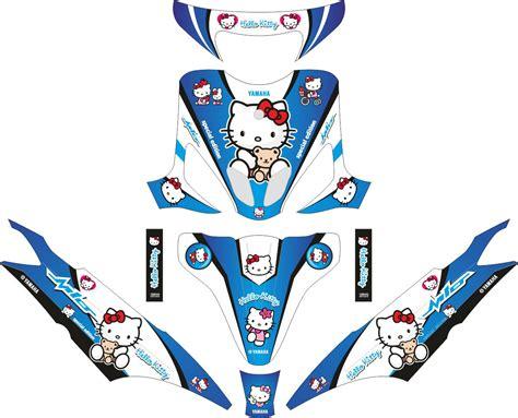 Tailok Mio Smile by комплект наклеек на скутер Yamaha Mio Smile Hello Blue
