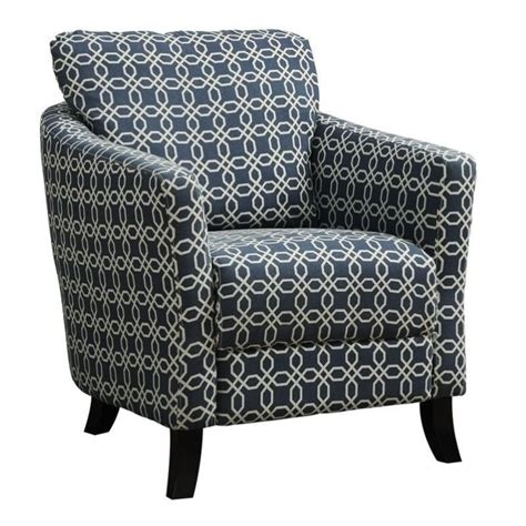 bowery hill curved back accent chair in blue bh 496162