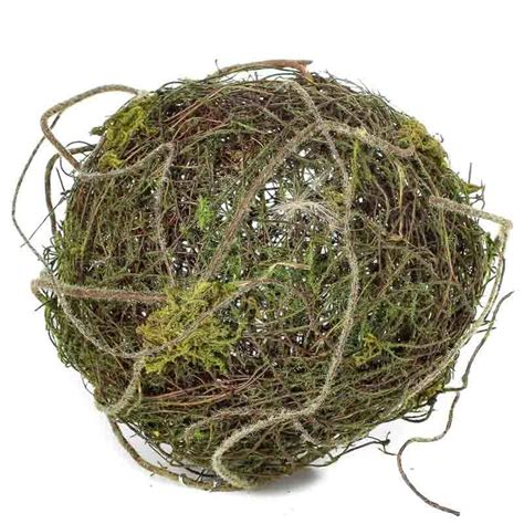 twig and moss natural twig and moss grapevine ball vase and bowl fillers home decor