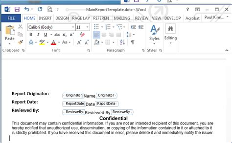 create  microsoft word document part template library