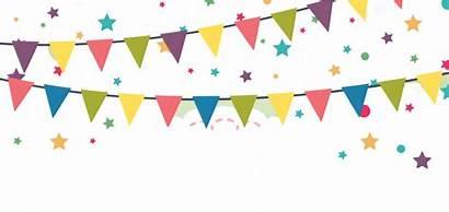 Celebration Birthday Happy Vector Transparent Confetti Border