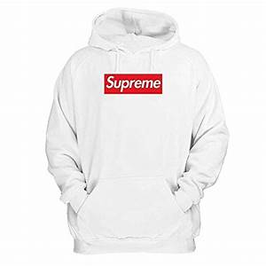Supreme Pullover Hoodie White (Large) Crewneck Pullover ...