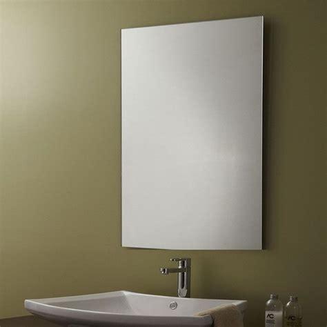 miroir biseaute sans cadre miroir argent 233 sans cadre de salle de bains r 233 versible et bord plat poli 23 6 po x 31 5 po yj