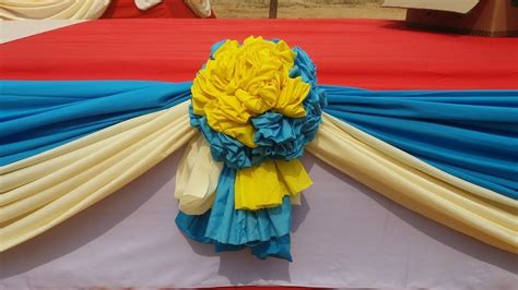 learn    flower  cloth  stage decoration