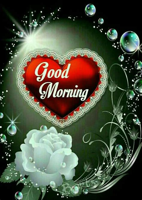 red heart good morning image pictures   images