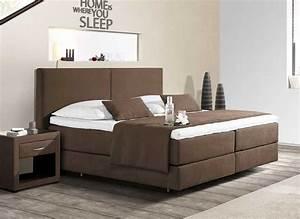 Komplett Schlafzimmer Mit Boxspringbett : boxspringbett 180x200 g nstig braun dass komplett mit ~ Indierocktalk.com Haus und Dekorationen