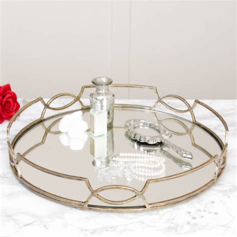 decorative tray classical scroll mirrored decorative tray by dibor