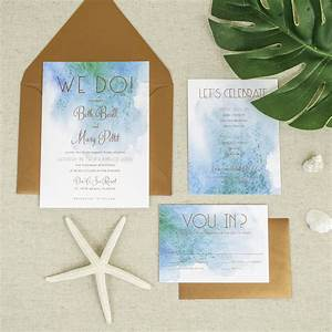 affordable letterpress wedding invitations tampa bay With diy wedding invitation kits beach theme