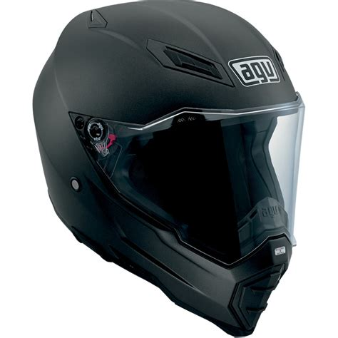flat black motocross helmet agv sport touring ax 8 evo matte black full face