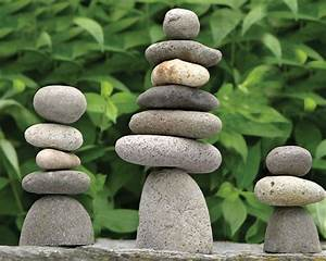 Handcrafted Natural River Stone Cairn Rock Stack Pile