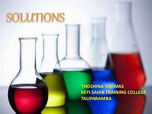 SOLUTIONS IN CHEMISTRY