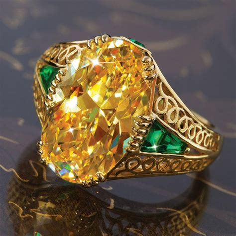 Yellow Glass Lamps by Louis Comfort Tiffany Replica Ring W6378 Stauer Com