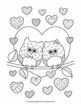 Coloring Pages Owls Owl Cartoon Printable Getcolorings sketch template