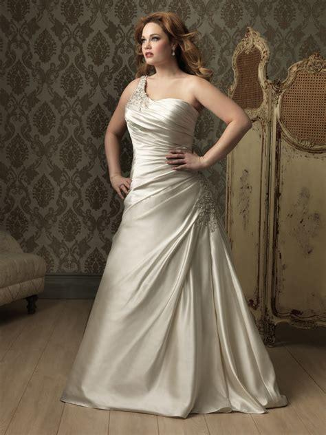 designer bridesmaid dresses a line princess one shoulder ivory satin ruched plus size