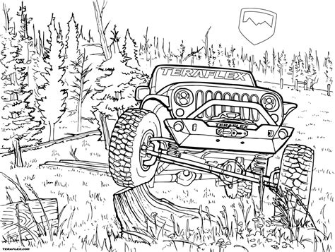 gallery teraflex jeep coloring pages sketch coloring page