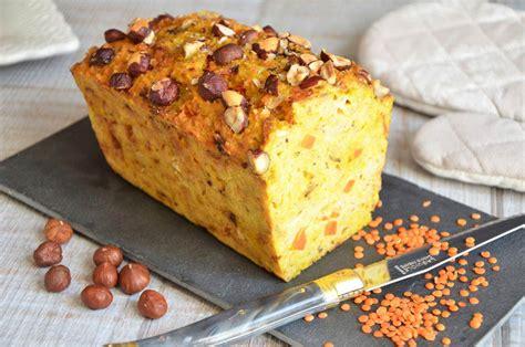 lentilles cuisiner cake aux lentilles corail carottes et curry