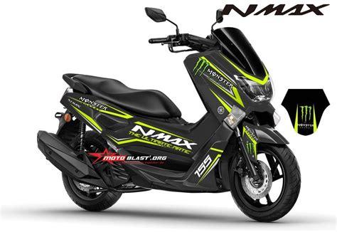 Modifikasi Yamaha Nmax by Modifikasi Striping Yamaha Nmax Black