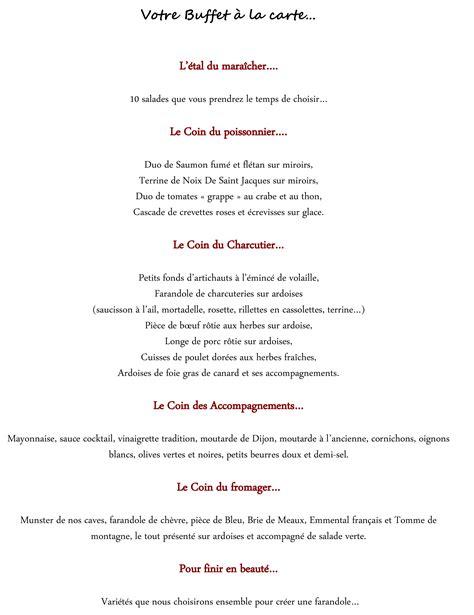 menu mariage traiteur notre repas de mariage traiteur ou restaurant repas assis ou buffet mademoiselle dentelle