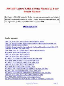 Acura Rl Ka9 Manual