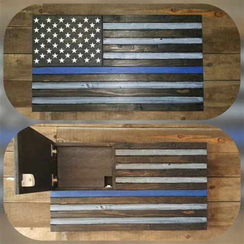 thin blue  concealed weapon flag standard