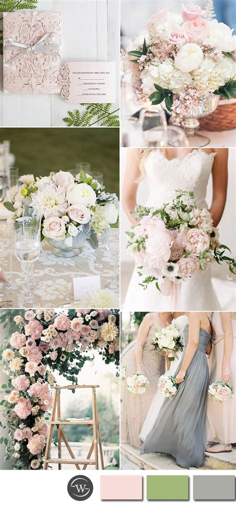 pastel wedding colors six beautiful pink and grey wedding color combos with
