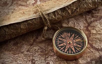 Compass Map Retro Wallpapers Mappe Navigational Sfondi