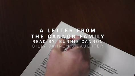 Curious to know what Billy Cannon's family wrote to Joe ...