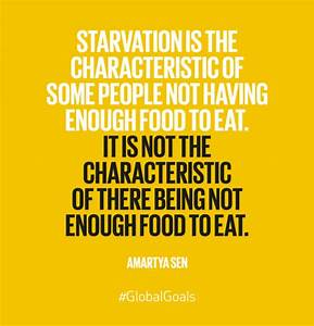 Starvation is t... Food Poverty Quotes