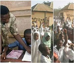 Kaduna School Pupils Protest Planned Sack of Teachers Who ...