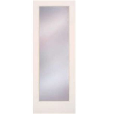 interior glass doors home depot feather river doors 24 in x 80 in privacy smooth 1 lite