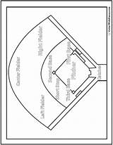 Baseball Coloring Diamond Pdf Worksheet Pages Print Colorwithfuzzy sketch template