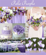 Pale purple Lavender wedding theme Purple wedding theme