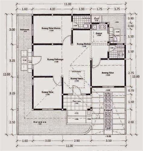 denah rumah sederhana  lantai  kamar tidur proyek