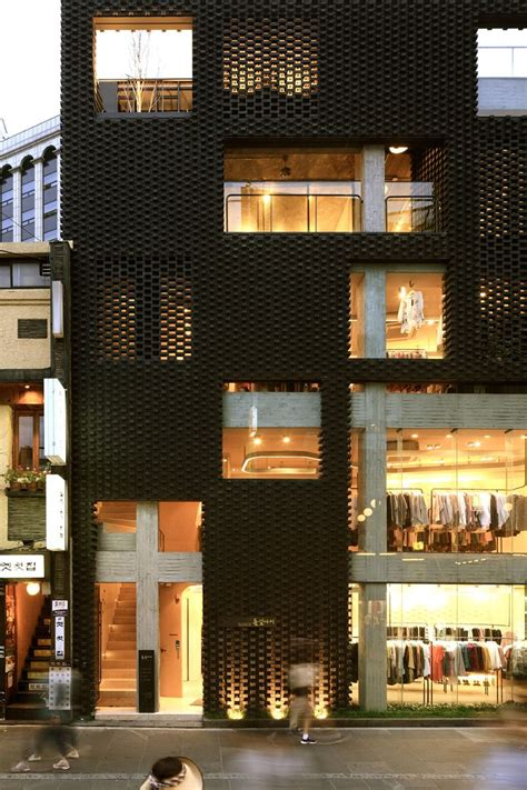 Younghan Chung Architects Poroscape In Seoul 建築、スクリーン、夜景