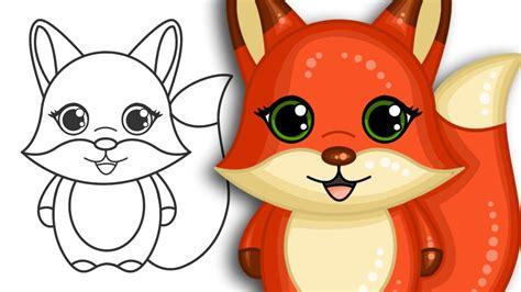 How To Draw A Super Cute Cartoon Fox