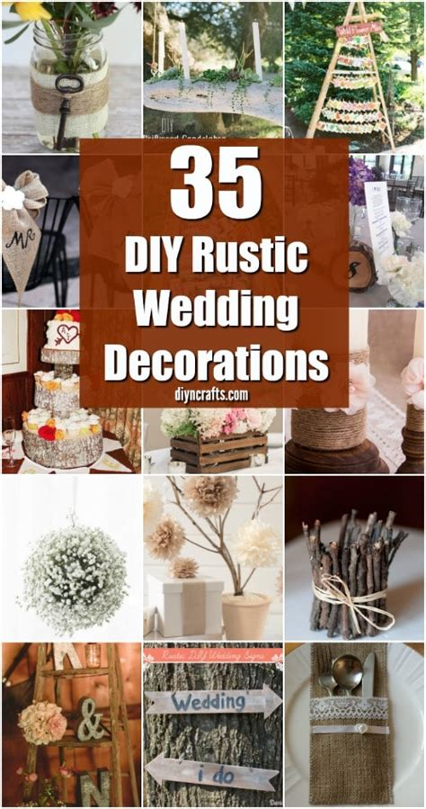 35 Breathtaking DIY Rustic Wedding Decorations For The